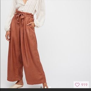 Free people paper pants wide leg SZ 0